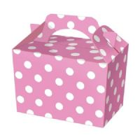 Baby Pale Light Pink Polka Dot / Spot Meal Party Box